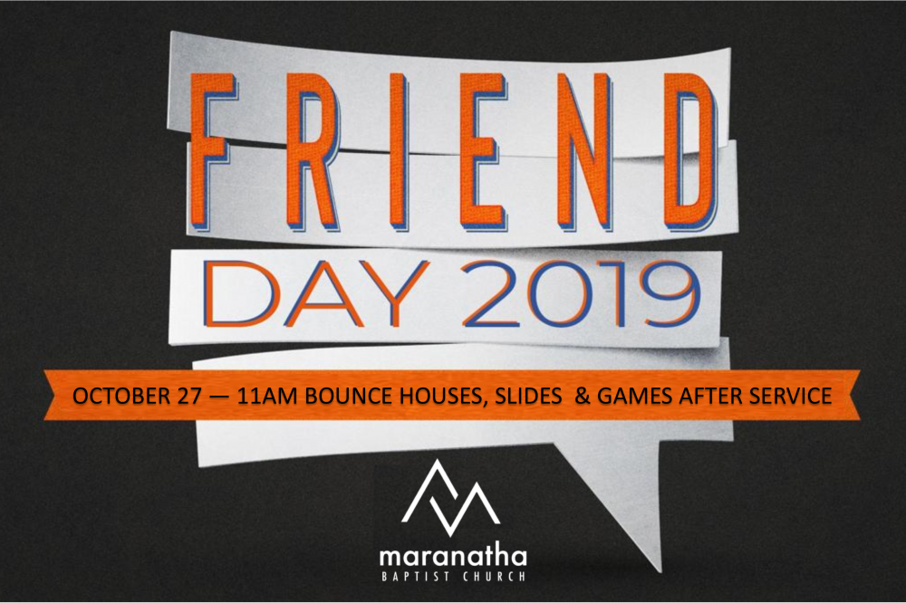 October 27 – Friend Day