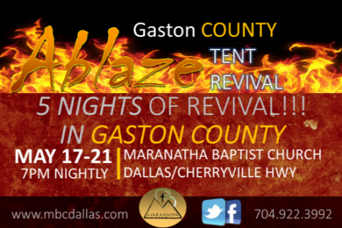May 17-21 – Tent Revival