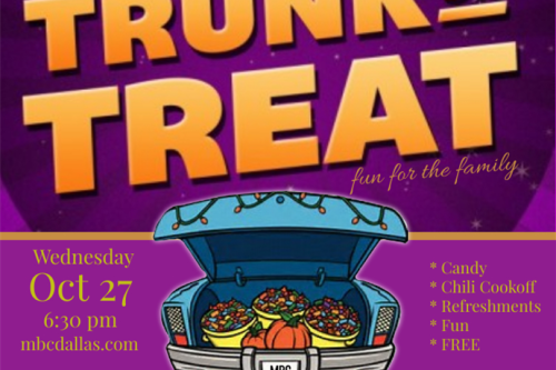 Oct 27 – Trunk or Treat